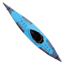 Pakboats Sprizdecke Solo Verdeck für 1er Puffin Saco blau-gelb