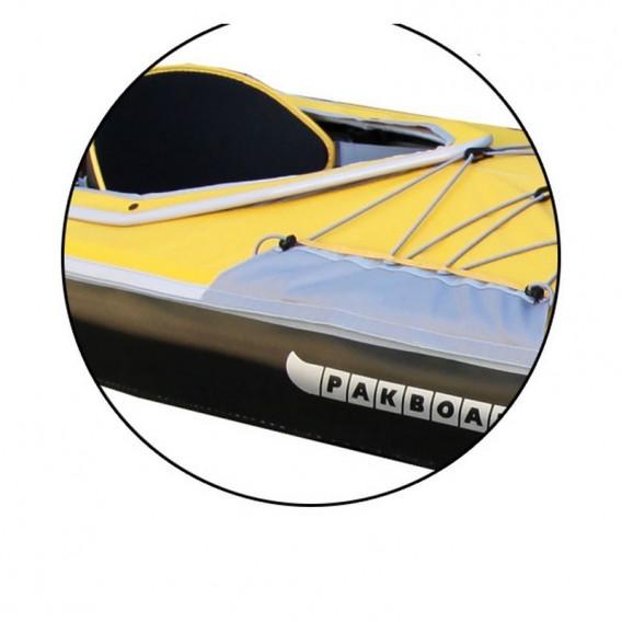 Pakboats Spritzdecke Solo Verdeck für 1er Puffin Saco blau-gelb hier im Pakboats USA-Shop günstig online bestellen