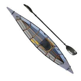 Pakboats Puffin Saco Faltboot Kajak 1er Set mit Fiberglas Doppelpaddel schwarz im ARTS-Outdoors Pakboats USA-Online-Shop günstig