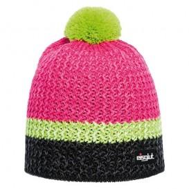 Eisglut Monty Damen Strickmütze mit Bommel Pudelmütze schwarz-pink im ARTS-Outdoors Eisglut-Online-Shop günstig bestellen