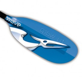 Ty Warp Wave GG WarpLok Fiberglas Tourenpaddel Doppelpaddel blau