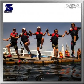 Secumar Echo Schwimmweste Schwimmhilfe Paddelweste blau rot hier im Secumar-Shop günstig online bestellen
