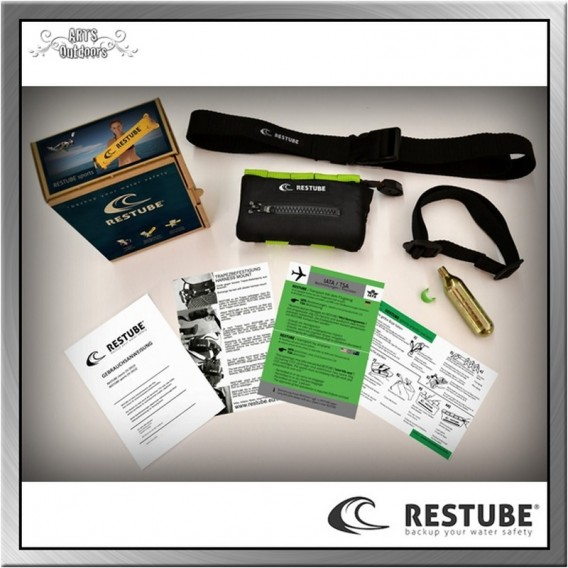 Restube Sports 3 Rettungssystem Rettungsboje Auftriebskörper lime green im ARTS-Outdoors RESTUBE-Online-Shop günstig bestellen