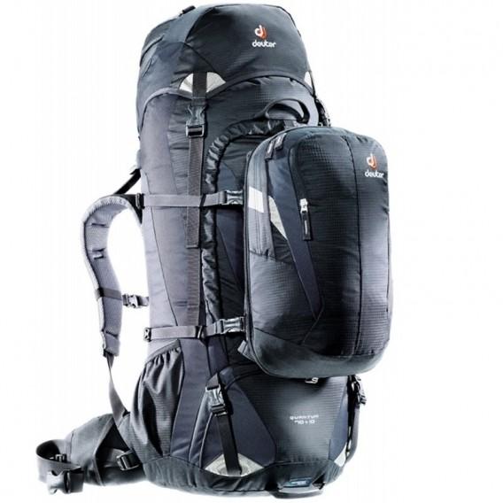 Deuter Quantum 70 + 10 Trekkingrucksack Reiserucksack Daypack black-silver im ARTS-Outdoors Deuter-Online-Shop günstig bestellen
