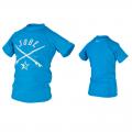Jobe Rash Guard Jungen Lycra Stretch Oberteil mit UV Schutz blue