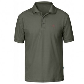 Fjällräven Crowley Piqué Shirt Herren Poloshirt mountain grey