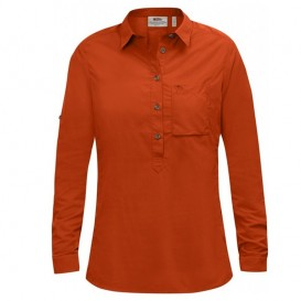 Fjällräven High Coast Shirt Damen Langarm Bluse flame orange