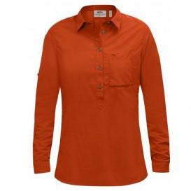 Fjällräven High Coast Shirt Damen Langarm Bluse flame orange
