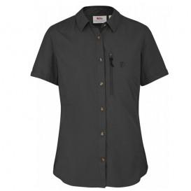 Fjällräven Abisko Hike Shirt Damen Hemd Kurzarmbluse dark grey