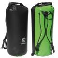 Langer Packsack Rucksack grün-schwarz