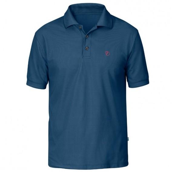 Fjällräven Crowley Piqué Shirt Herren Polohshirt uncle blue im ARTS-Outdoors Fjällräven-Online-Shop günstig bestellen