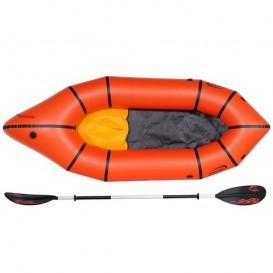 Nortik TrekRaft Trekking Schlauchboot Packraft Set mit 4-teiligem Paddel