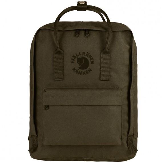 Fjällräven RE-Kanken Recycelter Rucksack Retro Daypack 16L dark olive im ARTS-Outdoors Fjällräven-Online-Shop günstig bestellen