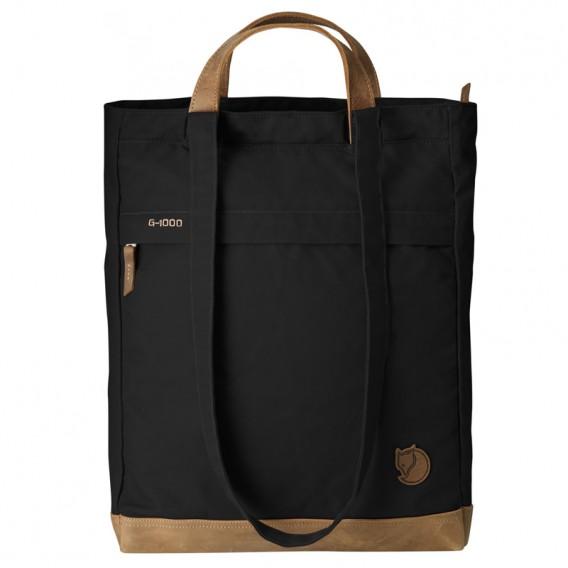 Fjällräven Totepack No.2 Schultertasche Umhängetasche mit Lederbesatz black hier im Fjällräven-Shop günstig online bestellen