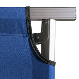 Arts Outdoor Equipment XXL Campingbett aus Aluminium extra lang 210 cm blau im ARTS-Outdoors ARTS-Outdoors-Online-Shop günstig b