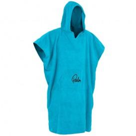Palm Towel Poncho Umziehponcho Handtuchponcho für Unterwegs blau