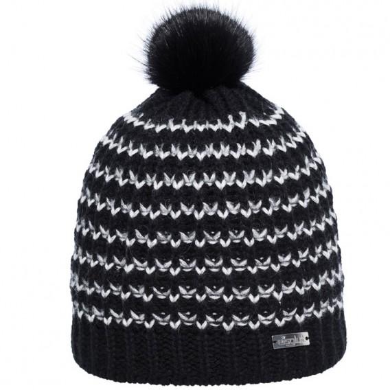 Eisglut Catalina Damen Strickmütze mit Bommel Pudelmütze schwarz hier im Eisglut-Shop günstig online bestellen