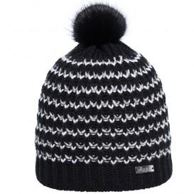 Eisglut Catalina Damen Strickmütze mit Bommel Pudelmütze schwarz im ARTS-Outdoors Eisglut-Online-Shop günstig bestellen