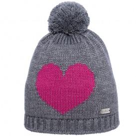 Eisglut Love Kinder Strickmütze Beanie grau meliert hier im Eisglut-Shop günstig online bestellen