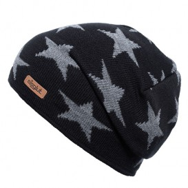 Eisglut Starlet Kinder Strickmütze Beanie mit Sternen schwarz-grau meliert im ARTS-Outdoors Eisglut-Online-Shop günstig bestelle