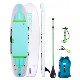 Jobe Lena 10.6 Yoga SUP aufblasbar Stand Up Paddle Board Set mit Paddel + Tasche + Pumpe