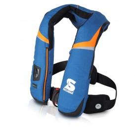 Secumar Scout 275 3D Harness Rettungsweste hellblau-orange