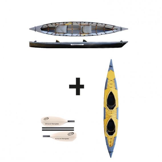 Pakboats Puffin Saranac Jubelpaket mit Verdeck und Fiberglas Paddeln hier im Pakboats USA-Shop günstig online bestellen