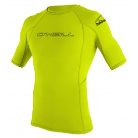 ONeill Basic Skins S/S Crew Herren Rashguard Shortsleeve Lime im ARTS-Outdoors ONeill-Online-Shop günstig bestellen
