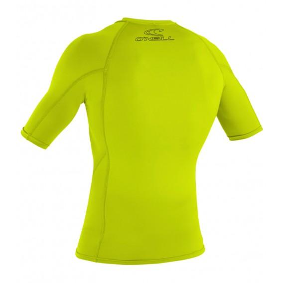 ONeill Basic Skins S/S Crew Herren Rashguard Shortsleeve Lime hier im ONeill-Shop günstig online bestellen
