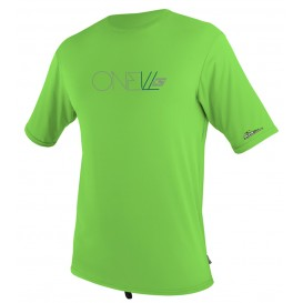 ONeill Youth Skins S/S Rash Tee Kids Rashguard Shortsleeve Dayglow Green