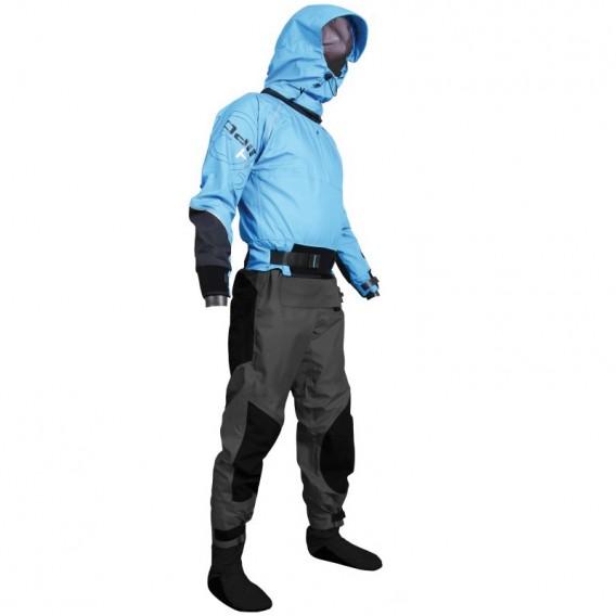 Hiko Odin 402 Hood Paddeljacke mit Hose Trocken- Paddelanzug mit Kapuze process blue hier im Hiko-Shop günstig online bestellen