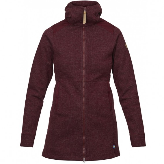 FjällRäven Övik Wool Jacket Damen Fleecejacke Dark Garnet hier im Fjällräven-Shop günstig online bestellen