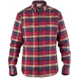 FjällRäven Singi Heavy Flannel Shirt Herren Hemd Deep Red