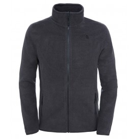The North Face 100 Glacier Full Zip Herren Fleecejacke Dark Grey Heather