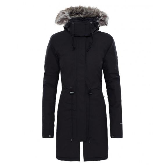 on sale 5ce93 f5dbf The North Face Zaneck Jacket Damen Wintermantel Parka Black-Vintage White