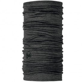 Buff Merino Wool Merino Multifunktionstuch solid grey