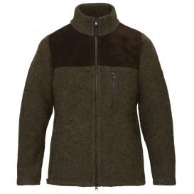Mufflon Bärtram Herren Merino Jacket forrest leder braun im ARTS-Outdoors Mufflon-Online-Shop günstig bestellen