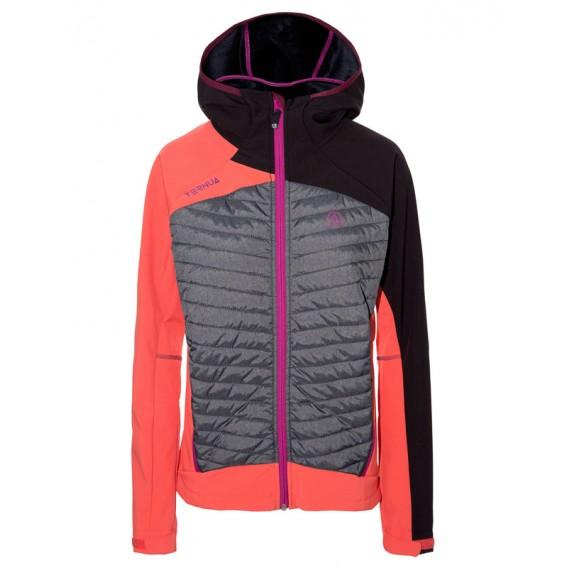 Ternua Chaqueta Vita Hybrid Jacket Damen Softshelljacke light magma hier im Ternua-Shop günstig online bestellen