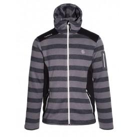 Ternua Chaqueta The River Hoody Jacket Herren Fleecejacke black stripes