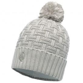 Buff Knitted Polar Hat Airon Mine Strickmütze Pommelmütze grey-mineral-grey im ARTS-Outdoors Buff-Online-Shop günstig bestellen