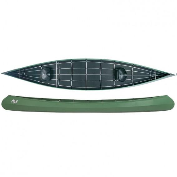 Ally 18 Allround Faltboot Kanadier grün hier im Ally Faltboote-Shop günstig online bestellen