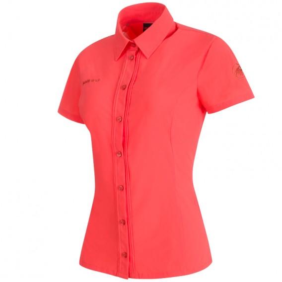 Mammut Trovat Light Shirt Damen Kurzarmhemd barberry hier im Mammut-Shop günstig online bestellen