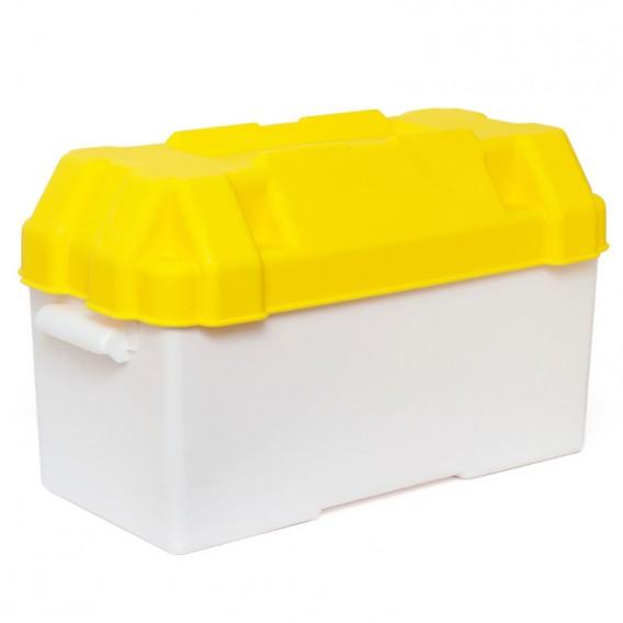 Minn Kota Batteriekasten Batteriebox Kunststoff weiß gelb hier im Minn Kota-Shop günstig online bestellen
