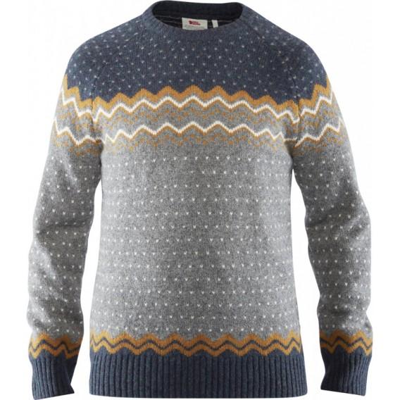 Fjällräven Övik Knit Sweater Herren Wollpullover acorn hier im Fjällräven-Shop günstig online bestellen