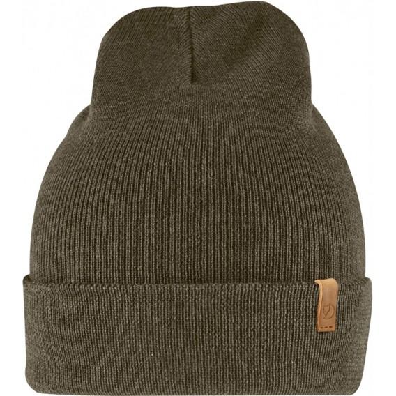 Fjällräven Classic Knit Hat Strickmütze aus Merinowolle dark olive hier im Fjällräven-Shop günstig online bestellen