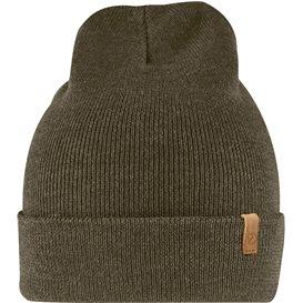 Fjällräven Classic Knit Hat Strickmütze aus Merinowolle dark olive