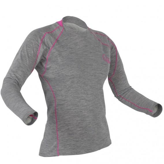 Palm Arun Longsleeve Damen Fleece Paddel Unterwäsche Funktionsshirt heather grey hier im Palm-Shop günstig online bestellen