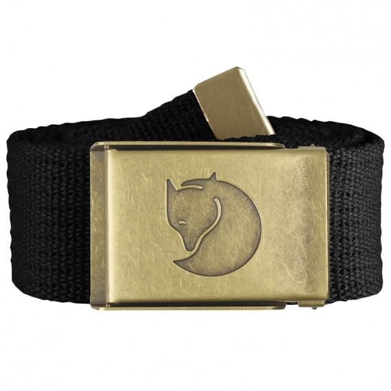 Fjällräven Canvas Brass Belt Gürtel 4 cm Stoffgürtel black hier im Fjällräven-Shop günstig online bestellen