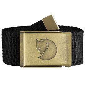 Fjällräven Canvas Brass Belt Gürtel 4 cm Stoffgürtel black