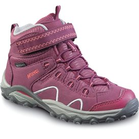 Meindl Lucca Junior Mid Kinder Jugend Wanderschuh aubergine-orange im ARTS-Outdoors Meindl-Online-Shop günstig bestellen